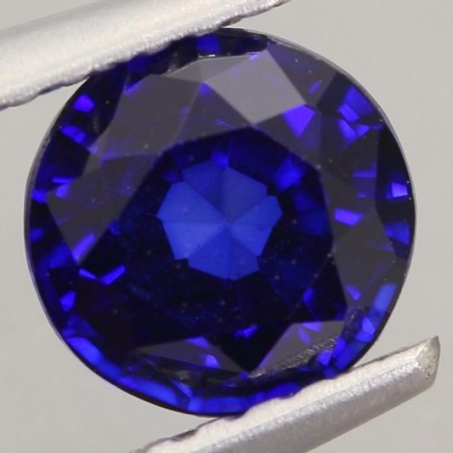 1.05Ct Natural Royal Blue Sapphire Round Cut