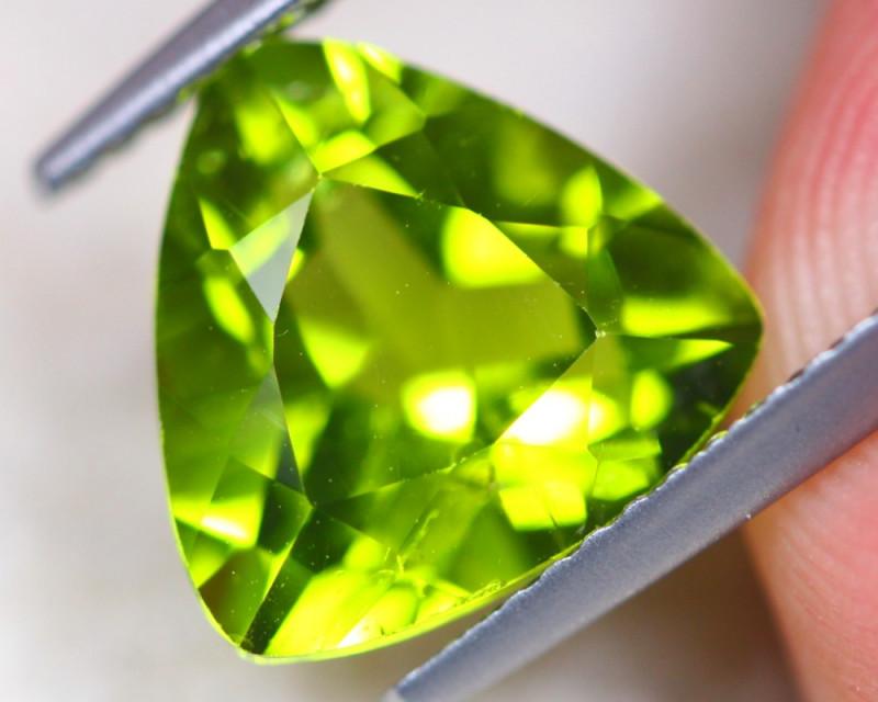 3.81Ct Natural Green Peridot Trillion Cut Lot D507
