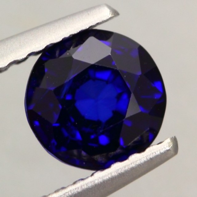1.18Ct Natural Royal Blue Sapphire Round Cut