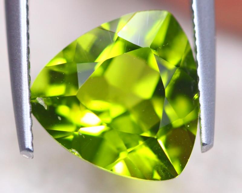 3.91Ct Natural Green Peridot Trillion Cut Lot D508