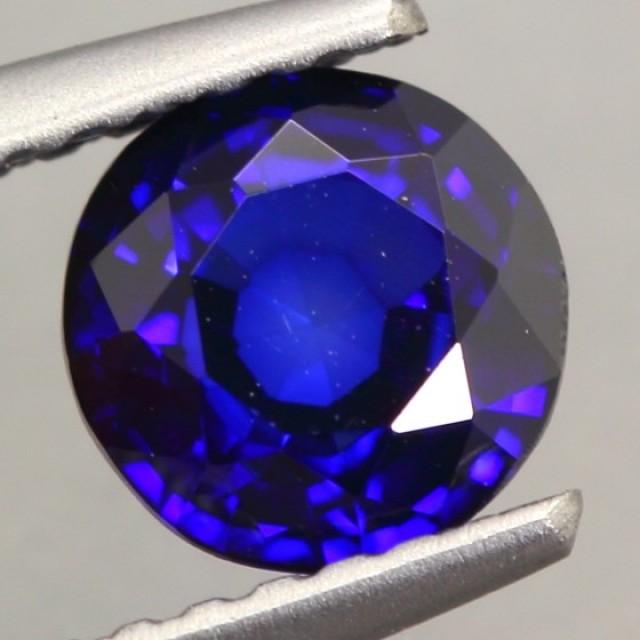 1.06Ct Natural Royal Blue Sapphire Round Cut