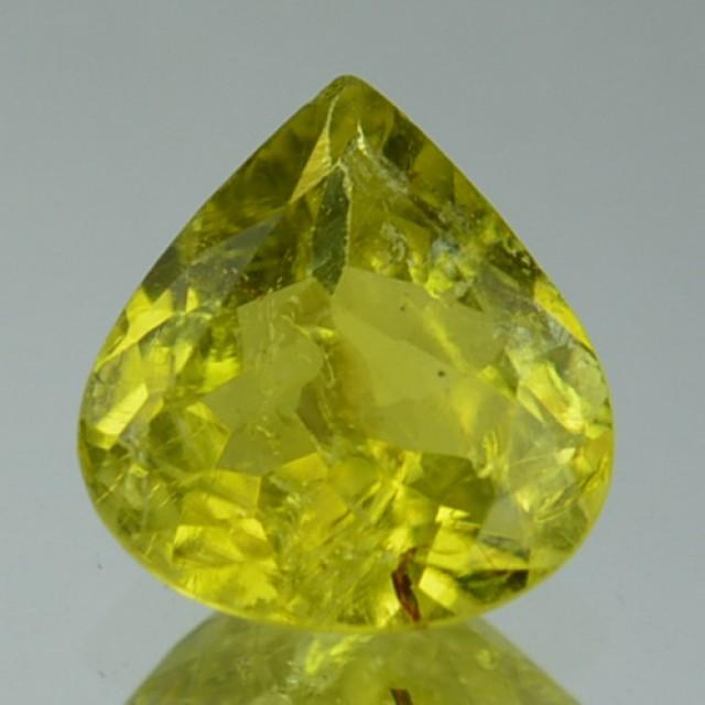 Natural Canary Yellow Tourmaline Pear Cut Mozambique Gem
