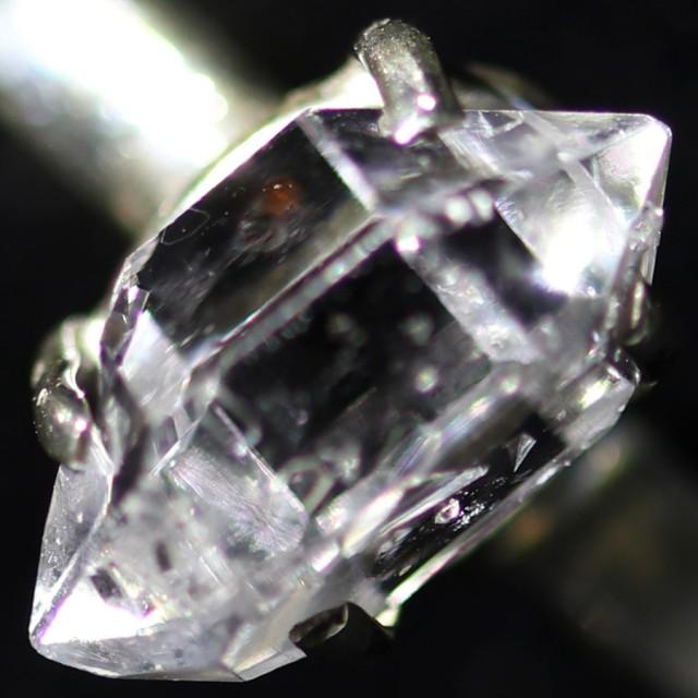 7 RING SIZE HERKIMER DIAMOND NATURAL-SILVER [SJ4639]