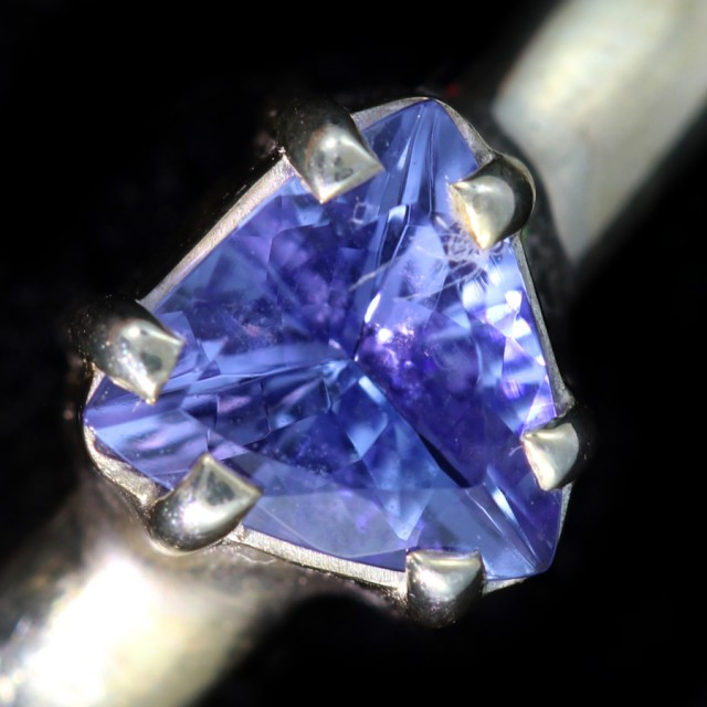 7 RING SIZE TANZANITE SILVER RING [SJ4674]