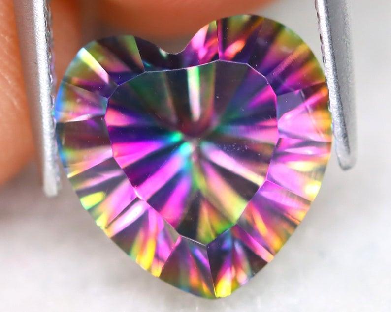 3.69Ct Natural Mystic Topaz Heart Cut S193