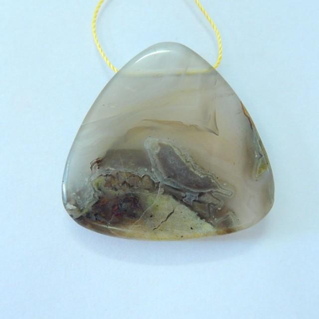 Natural Mushroom Jaspser Necklace Pendant(17091706)