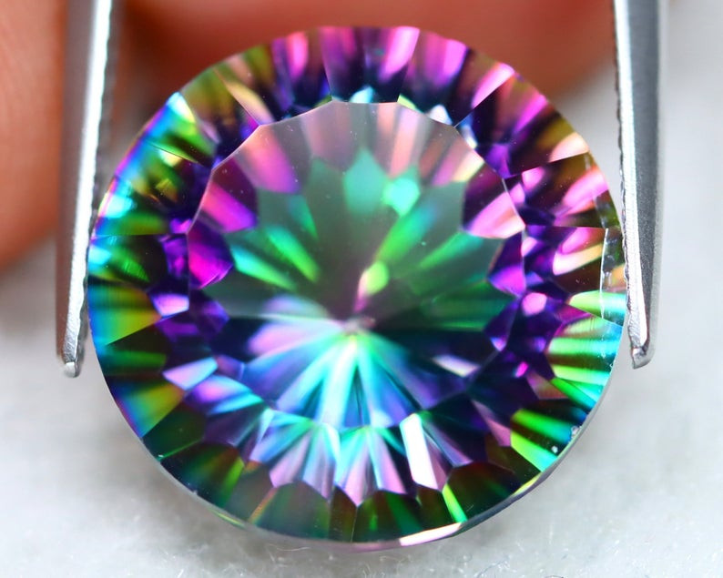 12.36Ct Natural Mystic Topaz Round Cut S208