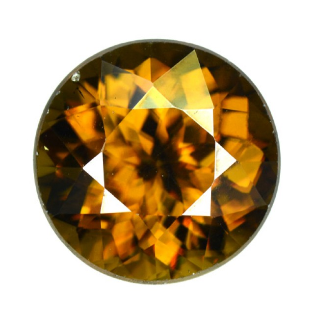 4.23 Cts Natural Honey Brown Sphene Round Russia