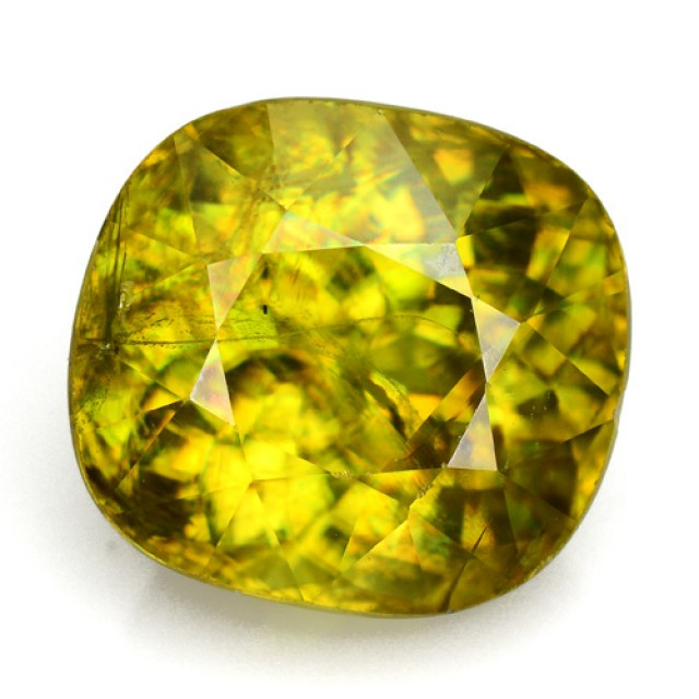 5.32 Cts Natural Sphene Yellowish Green Cushion Russia