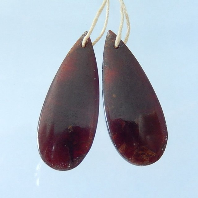 29.5CT Natural Garnet Teardrop Earrings, Birthstone Gift For Her(17092009)