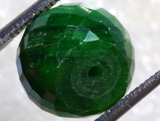 15.4CTS EMERALD BEAD FACETED CG-2310