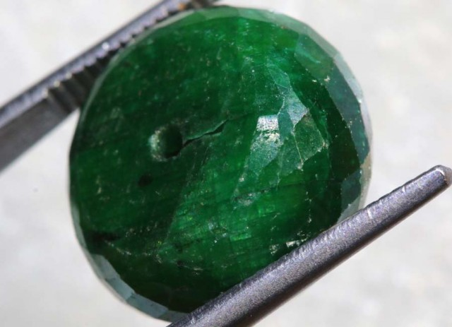 21.8CTS EMERALD BEAD FACETED  CG-2315