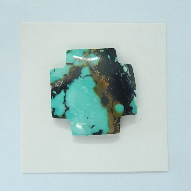 Semiprecious Turquoise Cross Shape Cabochon(17092607)