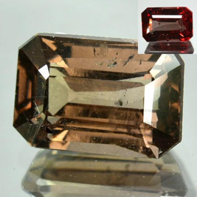 ~EMERALD CUT~ 2.76 Cts Natural Colour Change Garnet Tanzanian Gem