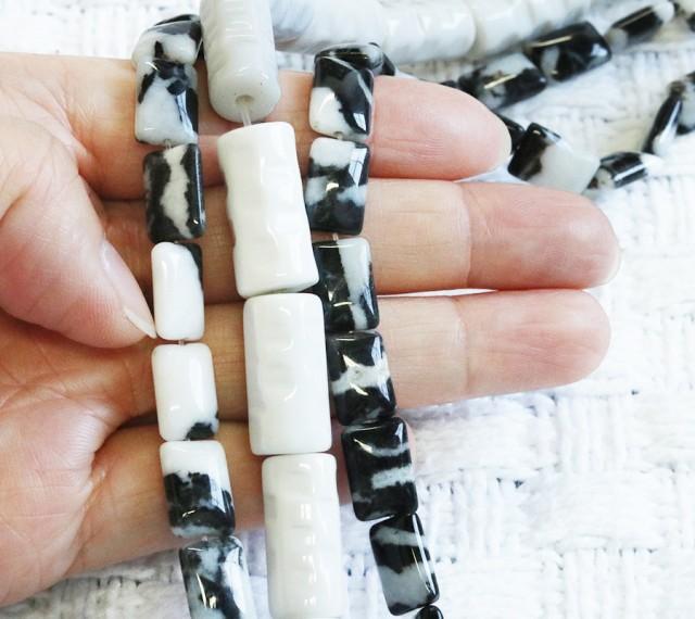 Three strands Zebra Jsper strand beads GOGO 1778