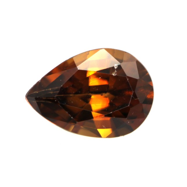 0.91cts Natural Australian Brownish/Red Zircon Pear Shape