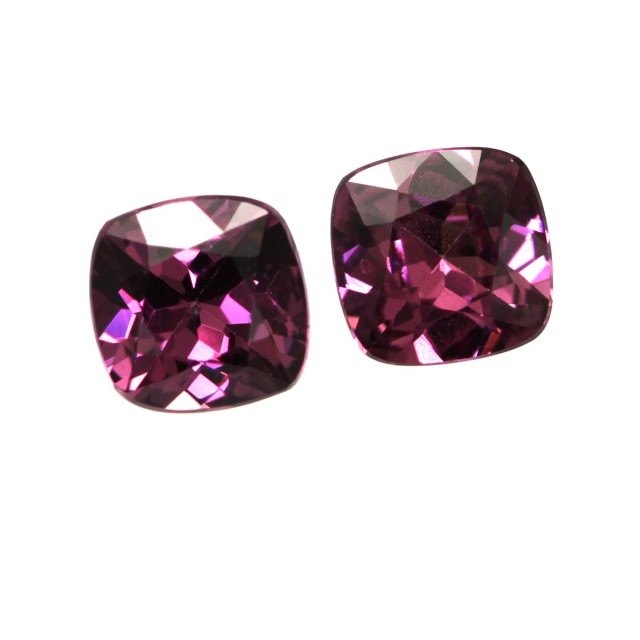 1.56cts Natural Rhodolite Garnet Matching Cushion Cuts