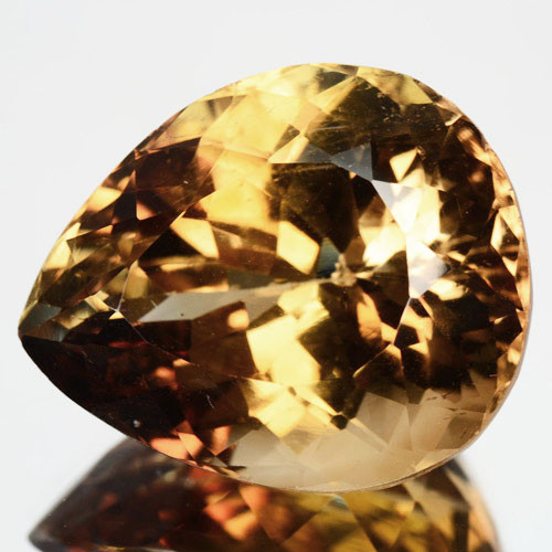 25.13 Cts Natural Yellow Topaz Pear Faceted Brazil Gem