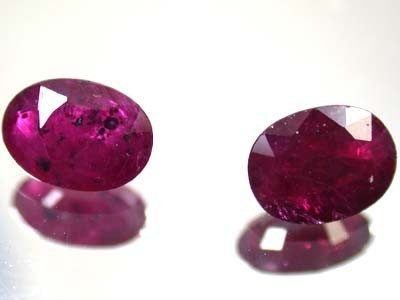 HIGH GRADE SELECTED RUBY 1.95 CTS 2 PIECES GW 735