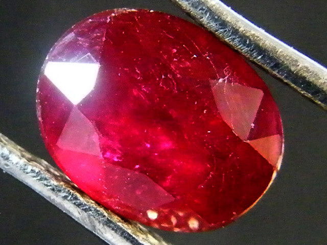 EYE CLEAN POMERGRANATE CRIMSON DEEP RED RUBY 1.65 CTS RM 32