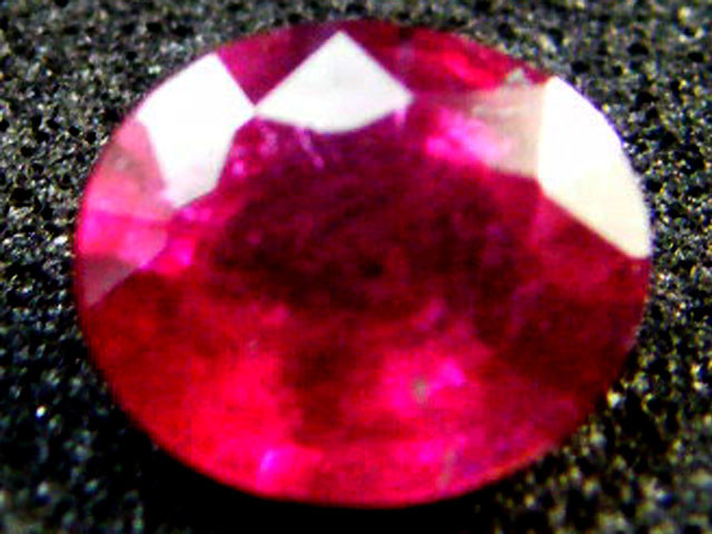 EYE CLEAN RASBERRY RED ROUND RUBY 0.80 CTS RM 60