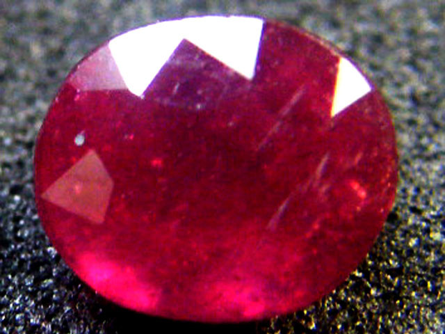 EYE CLEAN RASBERRY RED ROUND RUBY 1.80 CTS RM 63