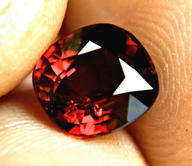 3.17 Carat Fiery Red VS/SI Spessartite Garnet - Gorgeous