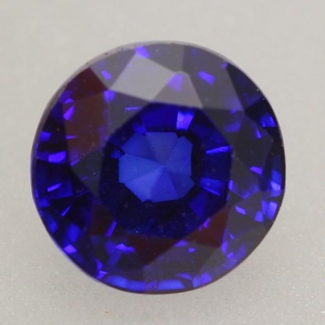 1.08Ct Natural Royal Blue Sapphire Round Cut