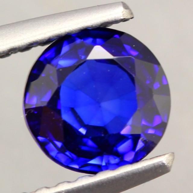 1.09Ct Natural Royal Blue Sapphire Round Cut