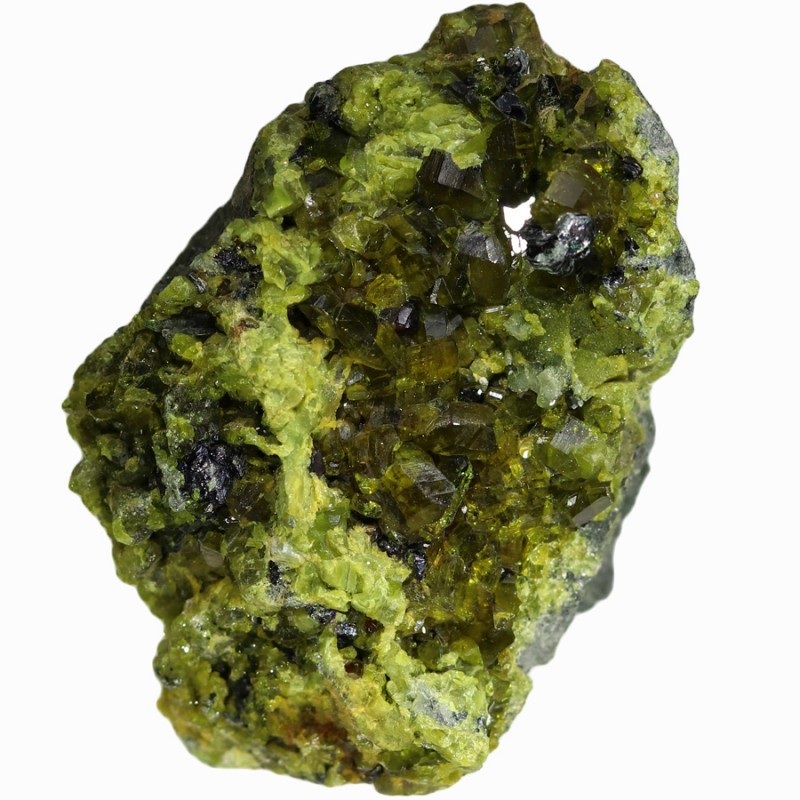 306.55 CTS EPIDOTE AND MAGNETITE SPECIMEN-PAKISTAN  [MGW5319]