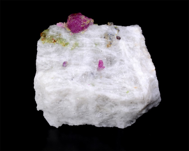 321 Cts Ruby With Calcite Specimen From Pakistan
