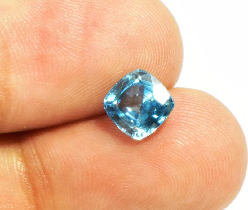 1.98 Carats Natural Blue Zircon VVS Loose Gemstone