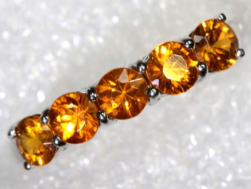 13CTS CITRINE SILVER RING SG-2555