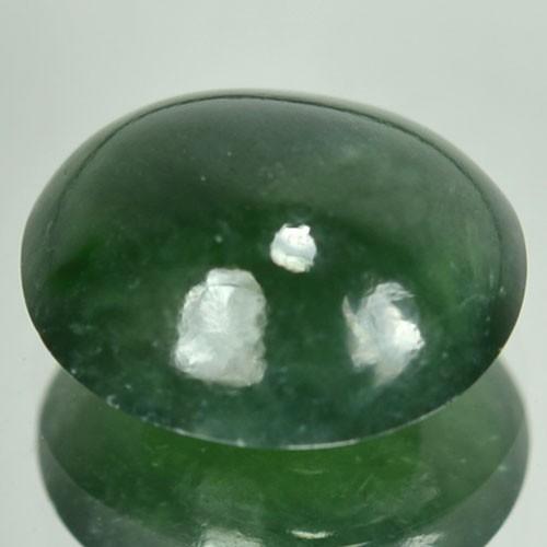 4.24 Cts Natural Green Jade Cabochon Burmese Gem