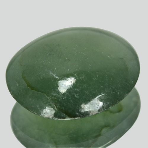4.59 Cts Natural Green Jade Cabochon Burmese Gem