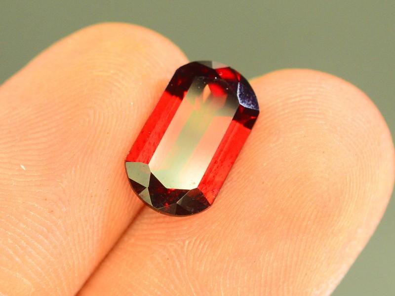 3.60 ct Natural Laser Cut Red Rhodolite Garnet