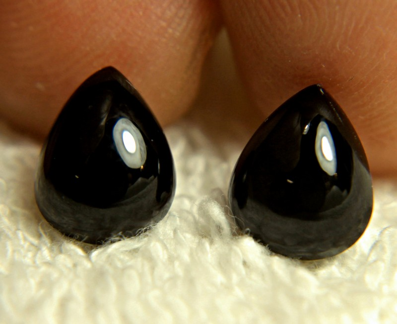 7.13 Tcw. Matching Balck Spinels - Gorgeous