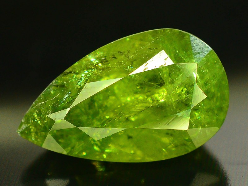 Stores That Accept Paypal Credit Online >> 8.30 ct Natural Demantoid Garnet w Horsetail Inclusion