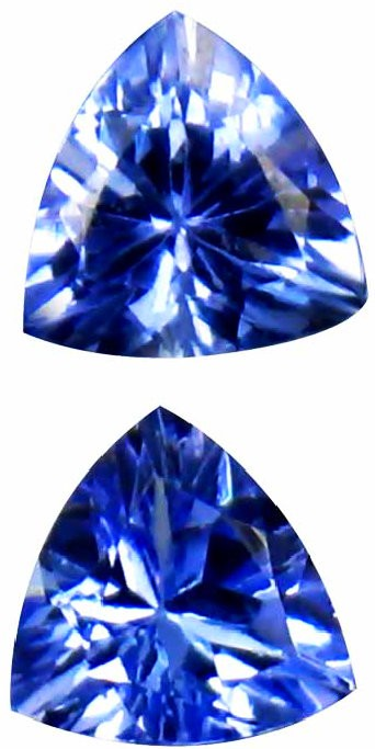 0.75 Carats Blueish Violet Tanzanite Pair Gemstone