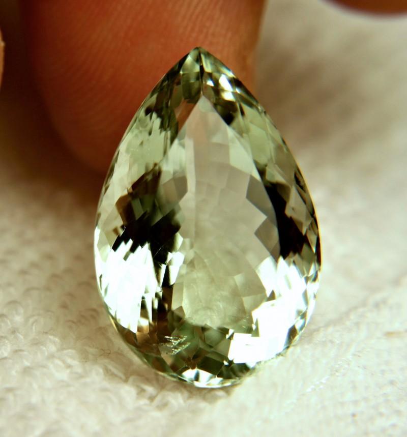 21.8 Carat IF/VVS1 Brazil Prasiolite - Gorgeous