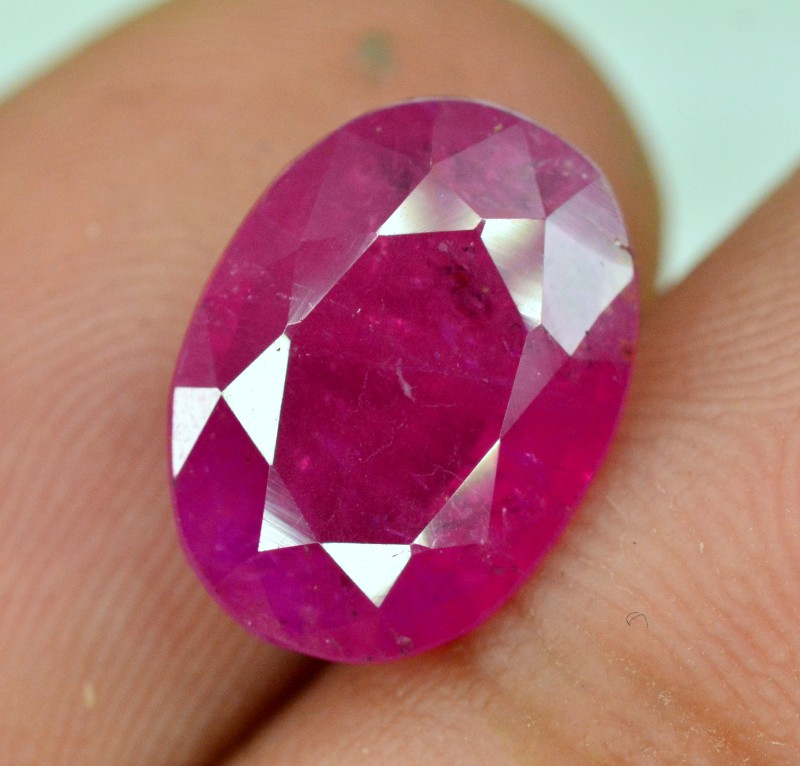 Certified 4.36 CTs Purplish Red Color Natural Burma Ruby Gemstone