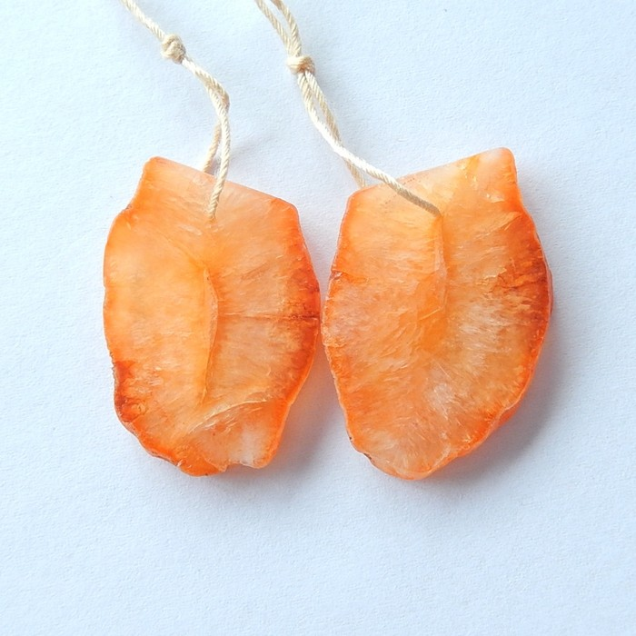 36ct Natural Orange Agate Earring Beads For Lady Wholesale (17101709)