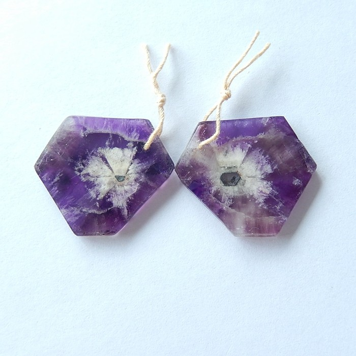 31.5ct Natural Amethyst Earring Beads For Lady(17101806)