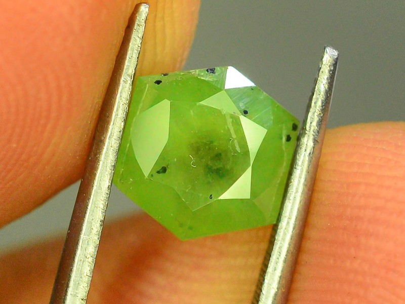 2.25 ct Natural Demantoid Garnet w Horsetail Inclusion