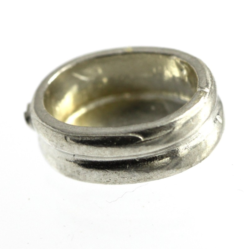 Oval Setting for Cabochon 8x6 Sterling Silver (925) Uncleaned
