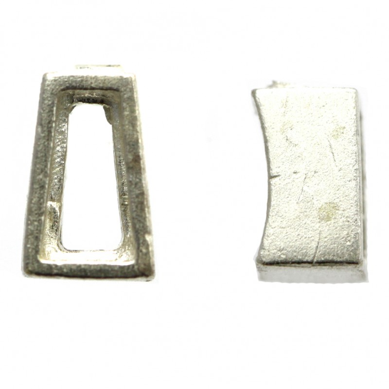 Tapper Baguette Bezel Setting 6x3x2mm Sterling Silver (925) Uncleaned