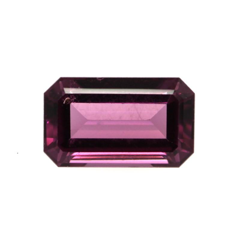 2.08cts Natural Rhodolite Garnet Emerald Cut