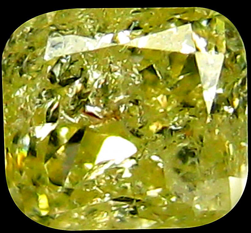 0.18 Ct Natural PGTL Certified Fancy Light Yellow Diamond