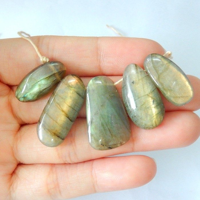 53ct Natural Labradorite Necklace Beads(17102022)