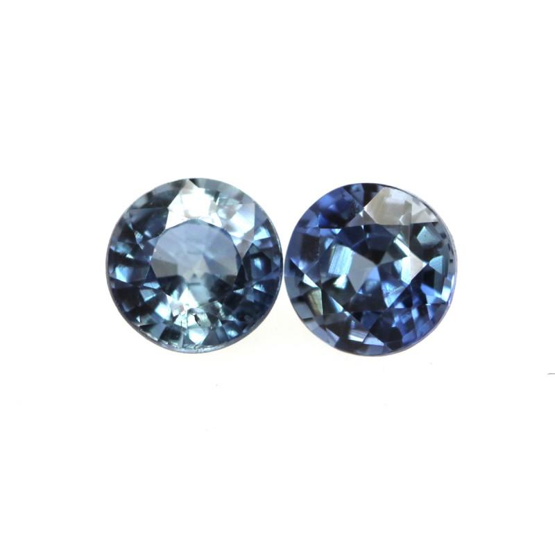 0.76cts  Matching Pair Natural Blue Sapphires 2pcs